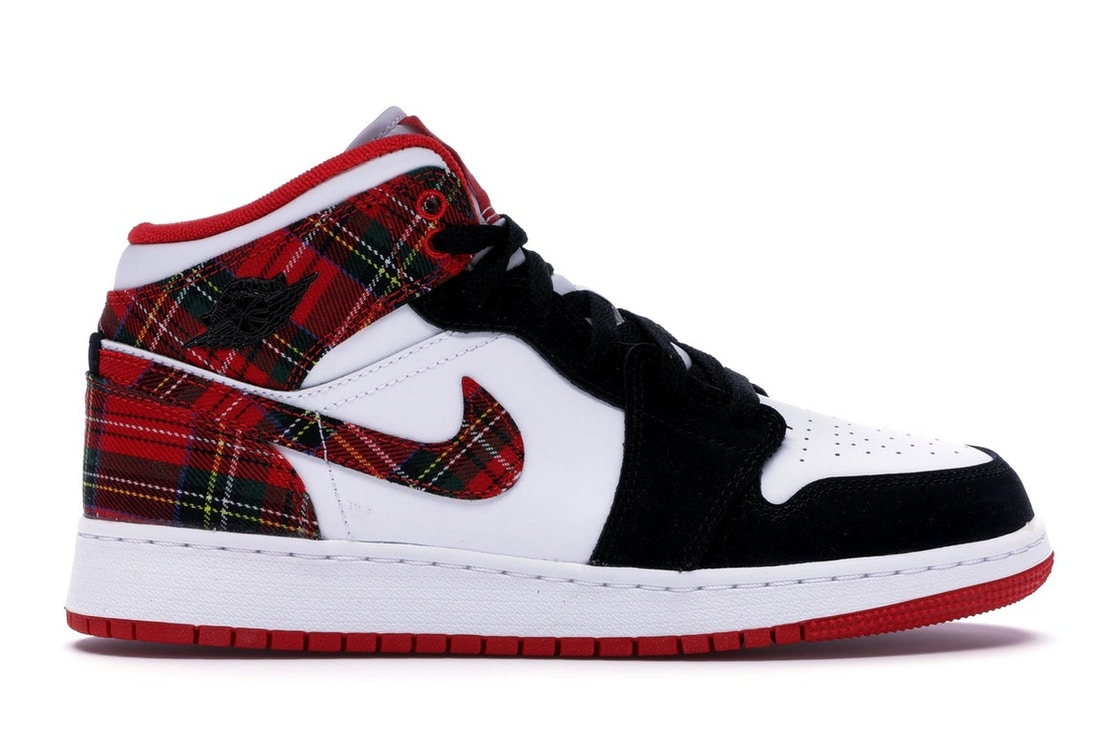 free shipping b6fe6 81386 Sell. or Ask. Size  4.5Y. View All Bids. Jordan 1 Mid White Plaid ...