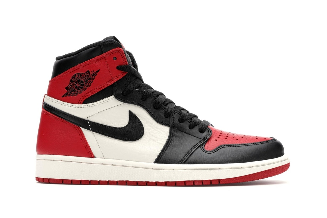 best authentic fa67a 37e5e Jordan 1 Retro High Bred Toe