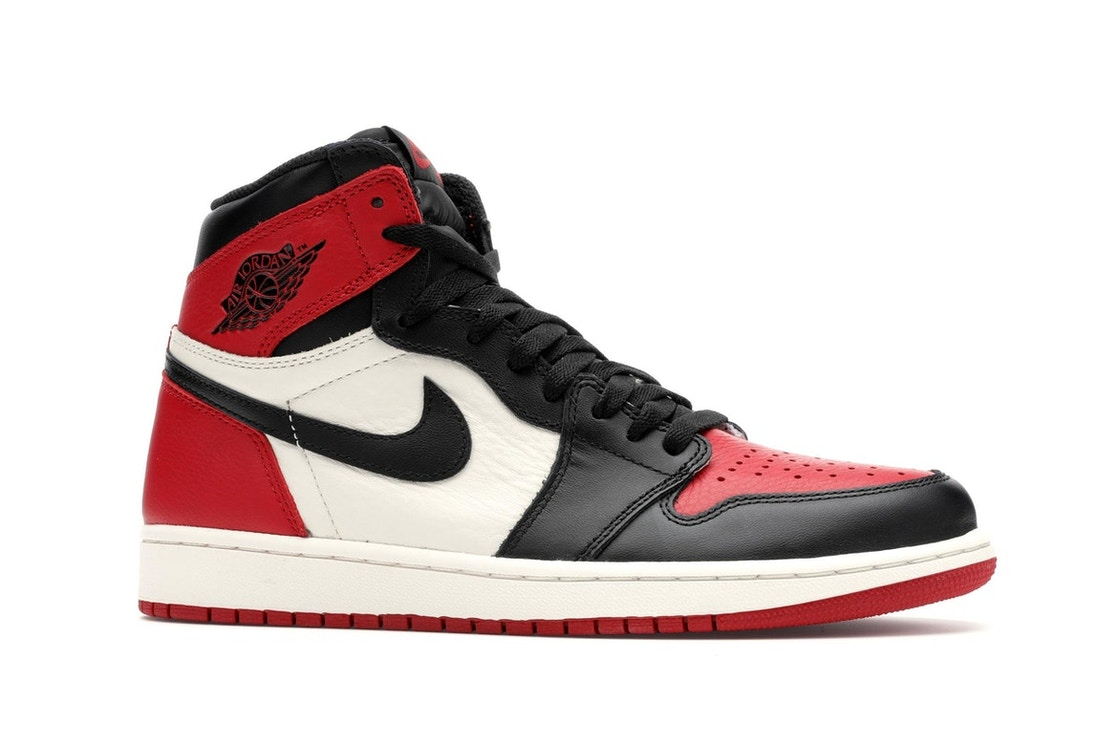 b2ad6d80eb1d44 Jordan 1 Retro High Bred Toe - 555088-610
