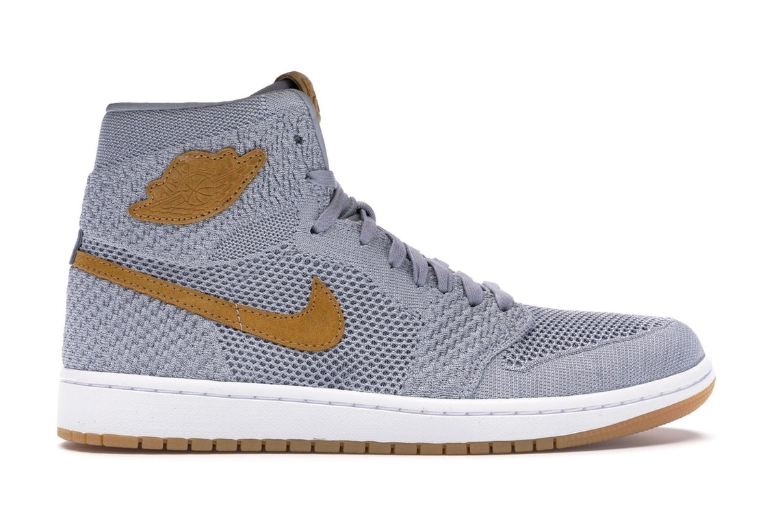 86222753036 Jordan 1 Retro High Flyknit Wolf Grey - 919704-025