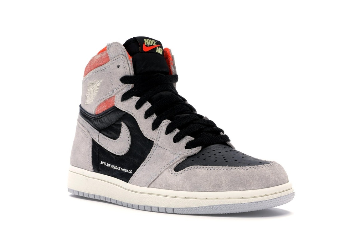 0239f3f6e26612 Jordan 1 Retro High Neutral Grey Hyper Crimson - 555088-018