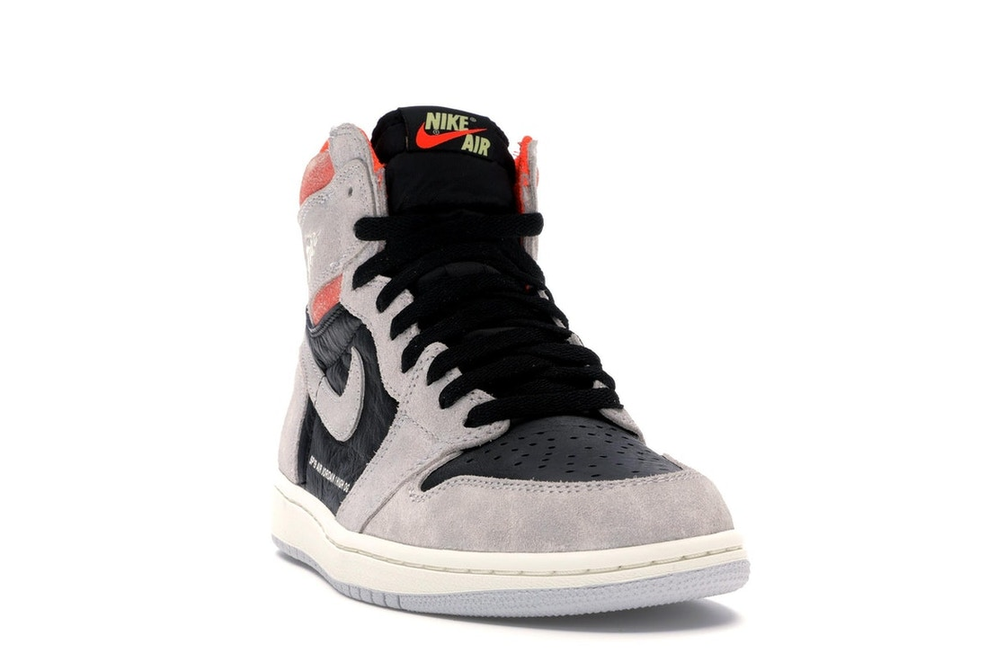 Jordan 1 Retro High Neutral Grey Hyper Crimson - 555088-018 39b08ad8f