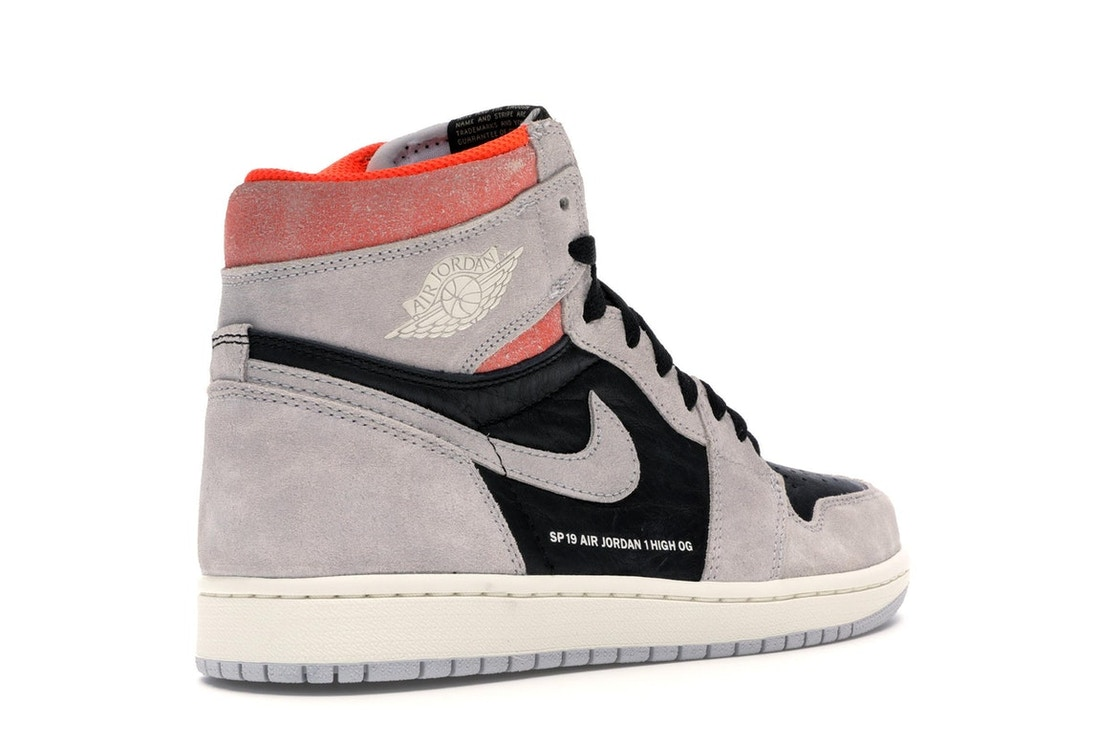Jordan 1 Retro High Neutral Grey Hyper Crimson - 555088-018 ec59748e4b