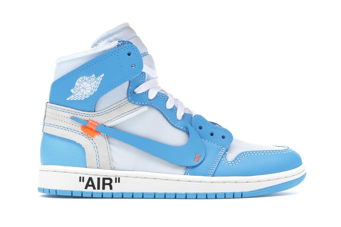 huge discount d4344 8a3bb Jordan 1 Retro High Off-White University Blue - AQ0818-148