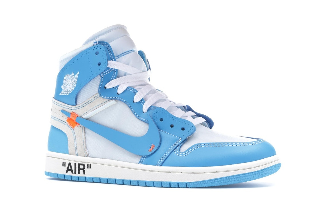 Off White Shoes Jordan 1 Retro High Off-White University Blue - AQ0818-148