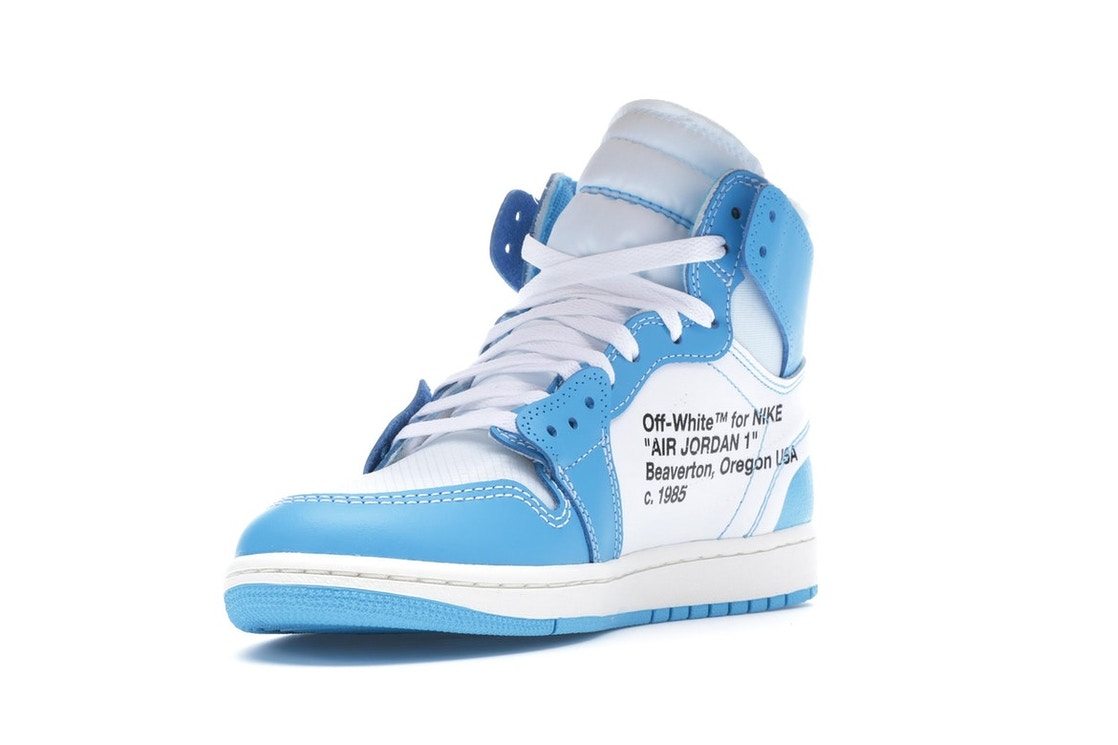 huge discount 02ff3 5bf7b Jordan 1 Retro High Off-White University Blue - AQ0818-148