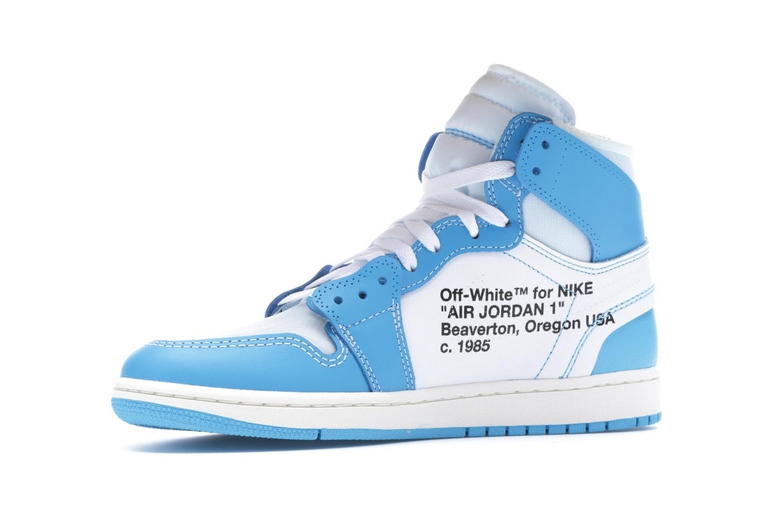 official photos 6020c f2ddf Jordan 1 Retro High Off-White University Blue