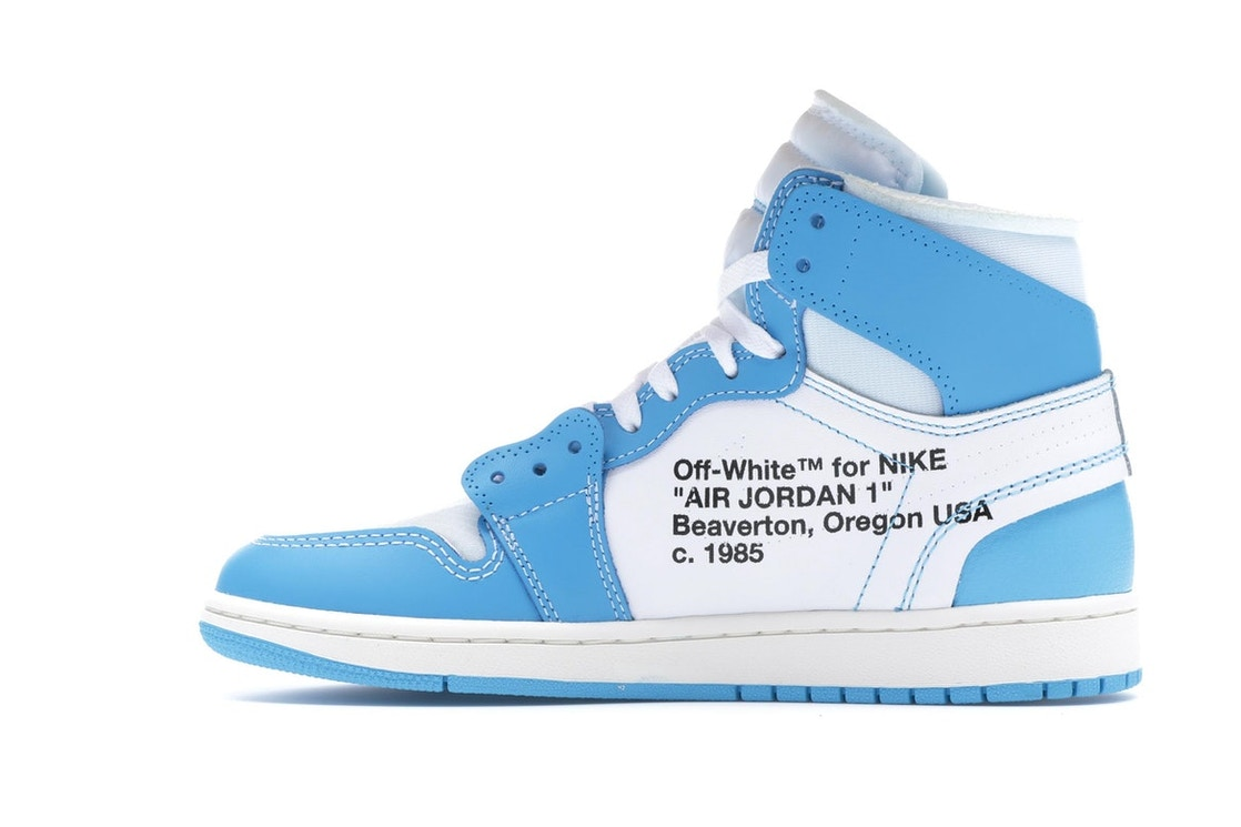 huge discount 2423f 31a10 Jordan 1 Retro High Off-White University Blue - AQ0818-148