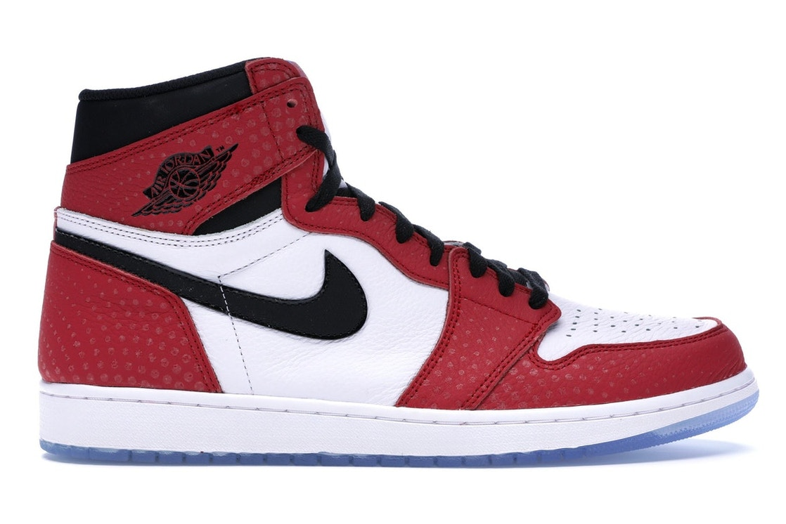 on sale cff04 93984 Jordan 1 Retro High Spider-Man Origin Story - 555088-602