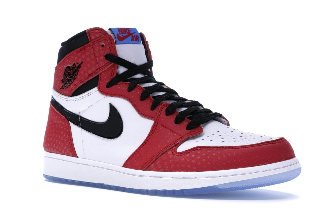 3033f6bef45 Jordan 1 Retro High Spider-Man Origin Story - 555088-602