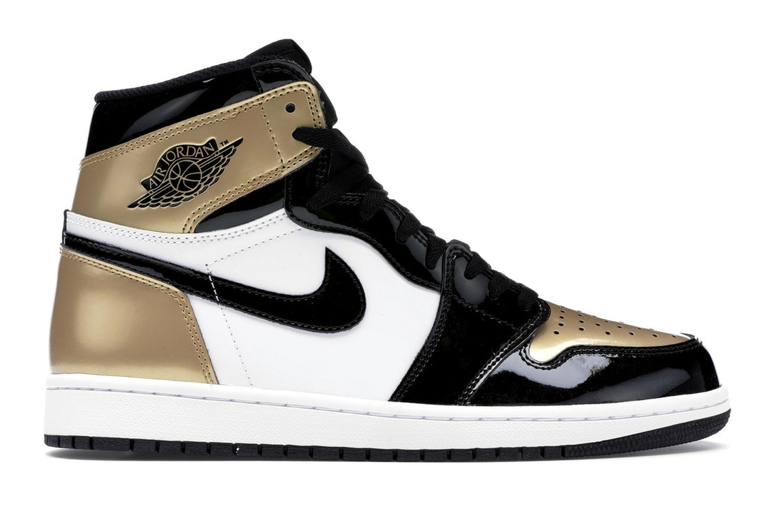 5ebf73cdfbb789 Sell. or Ask. Size  5.5. View All Bids. Jordan 1 Retro High NRG Patent Gold  Toe