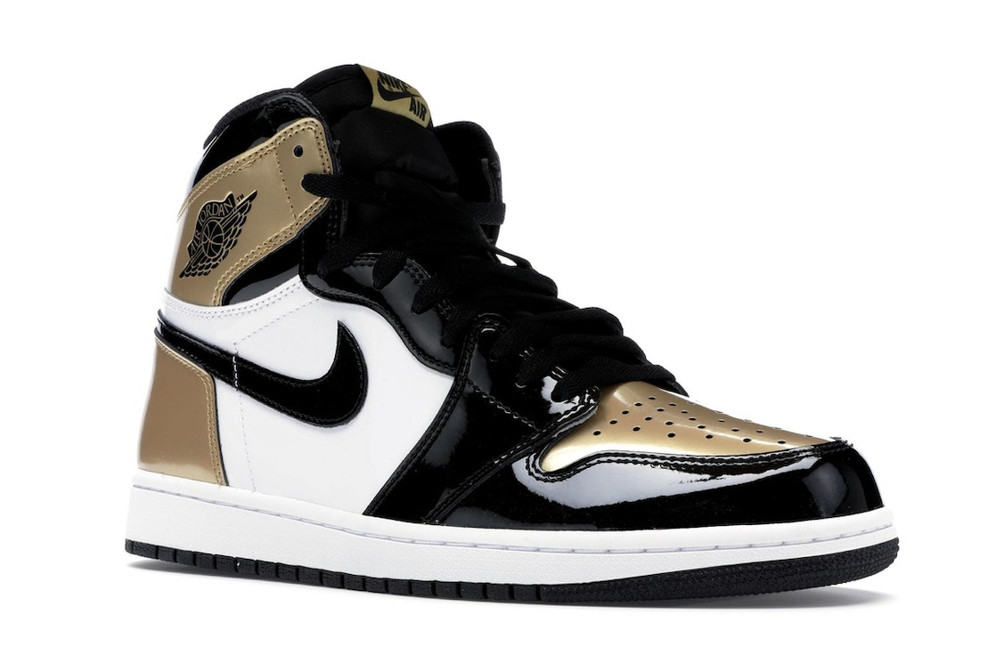 7465ea9d09b9e Jordan 1 Retro High NRG Patent Gold Toe - 861428-007