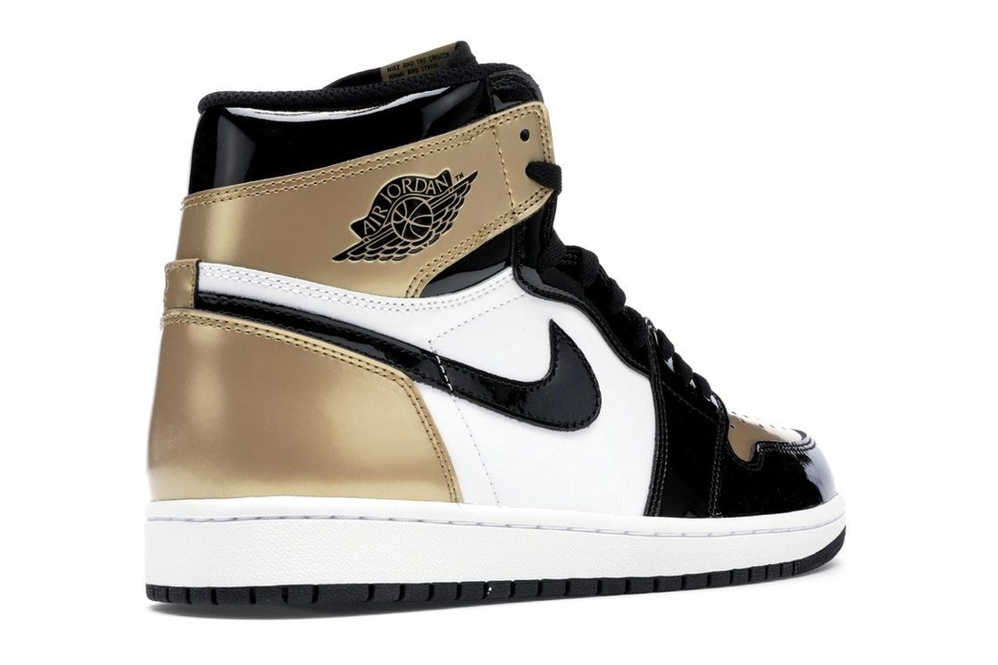 2996830c459284 Jordan 1 Retro High NRG Patent Gold Toe - 861428-007