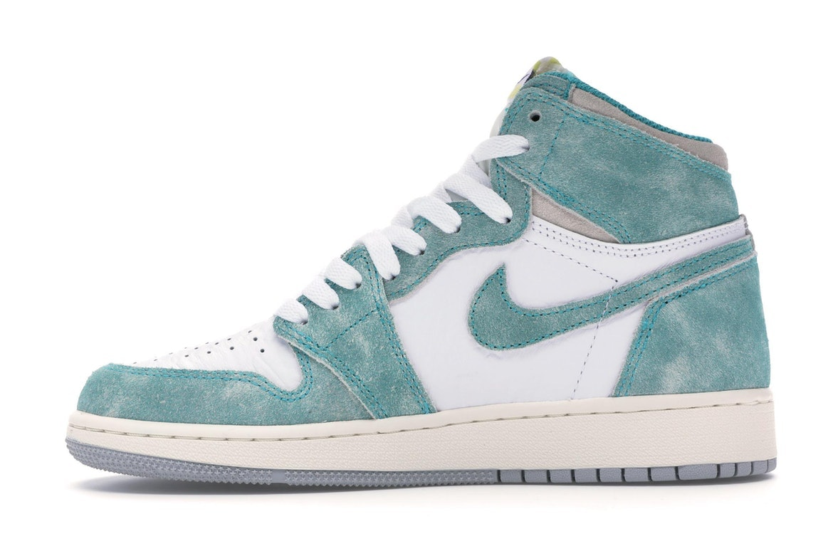 Nike Air Jordan Retro I 1 High OG 2019 Turbo Green Sail White GS BG 575441-311