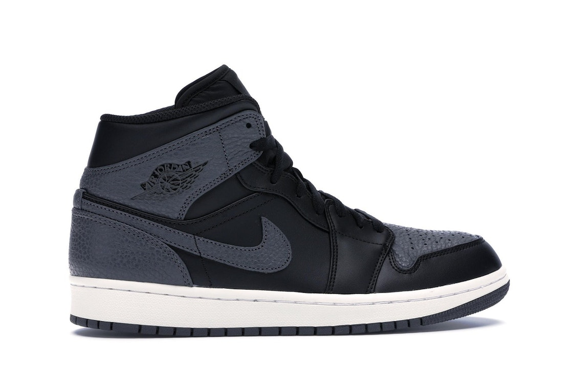 sports shoes 05abf bf8a2 Jordan 1 Retro Mid Black Dark Grey - 554724-041