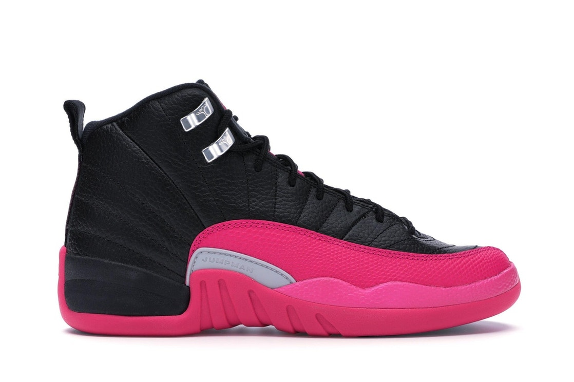 brand new 3cd8f ac034 Jordan 12 Retro Black Deadly Pink (GS) - 510815-026