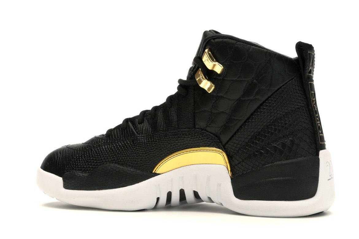 white and gold 12s