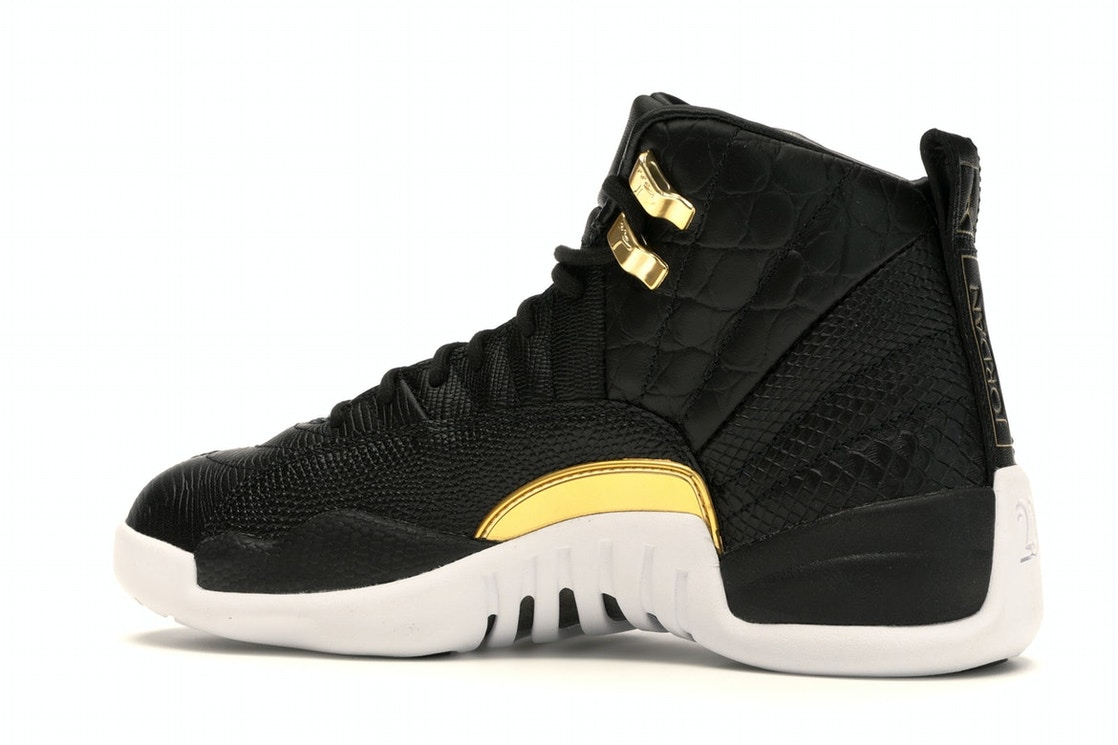 best sneakers 3da6e f3c4b Jordan 12 Retro Black Metallic Gold White (W)