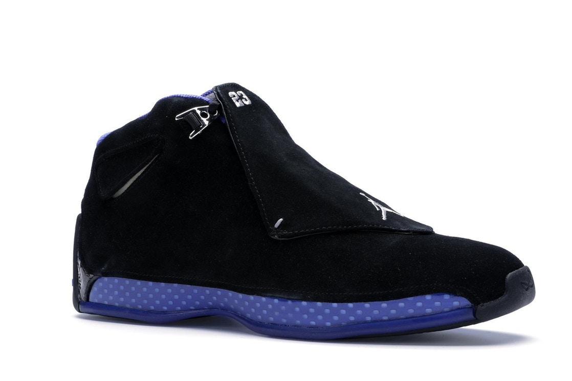 13e182e5abe9 Jordan 18 Retro Black Sport Royal - AA2494-007
