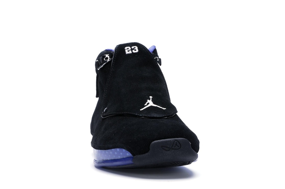 sports shoes e2be0 ba89a Jordan 18 Retro Black Sport Royal - AA2494-007