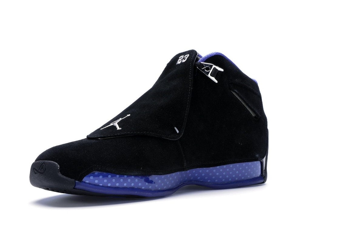 7114376a8d9a Jordan 18 Retro Black Sport Royal - AA2494-007