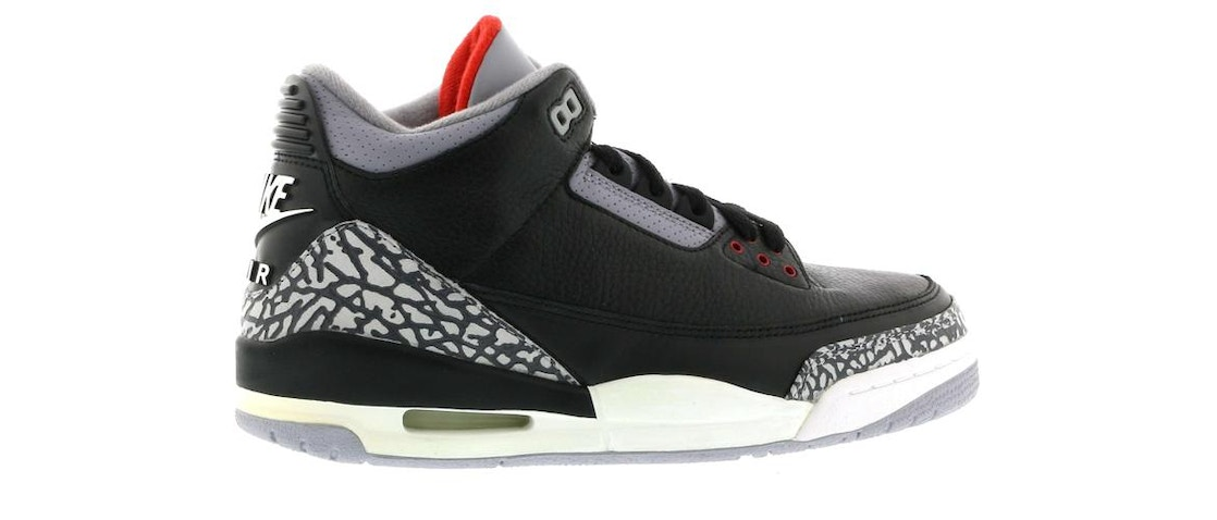 66e7ca481f3804 Jordan 3 Retro Black Cement (2001) - 136064-001