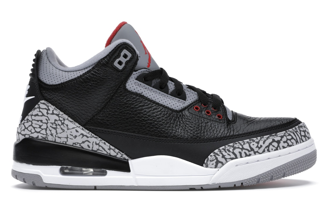 b4d55ee0bfda Jordan 3 Retro Black Cement (2018) - 854262-001