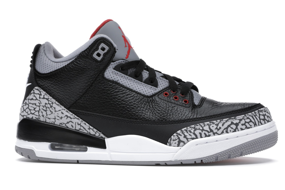 8f0f4ed38abb Jordan 3 Retro Black Cement (2018) - 854262-001