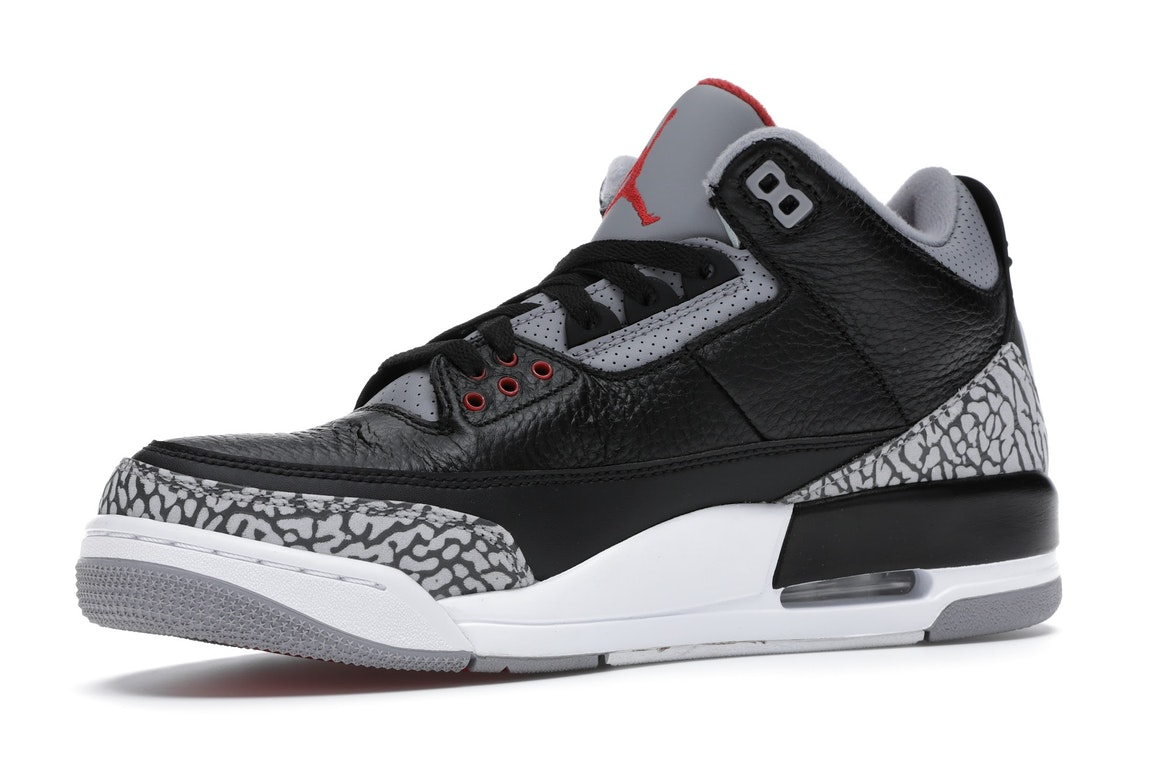 save off f74c7 a1796 schuhe weiß silber schwarz reflective air jordan 3 iii retro 5lab3  jordan  3 retro black cement (2018) 854262 001