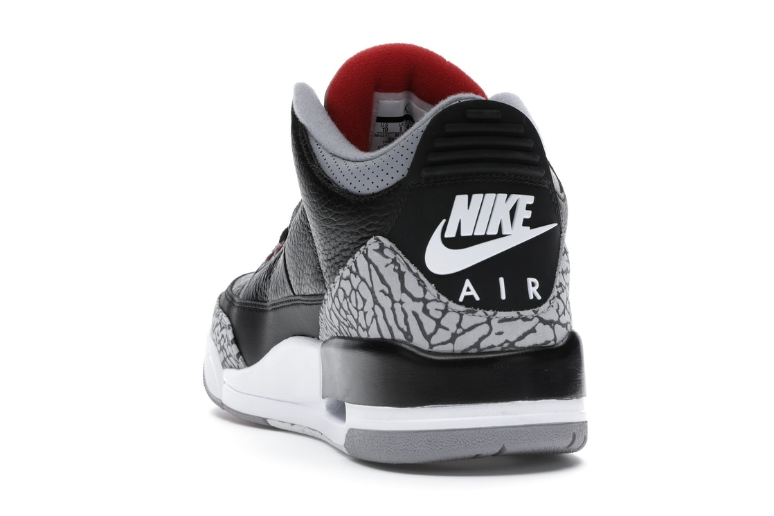 601e9379569f40 Jordan 3 Retro Black Cement (2018) - 854262-001