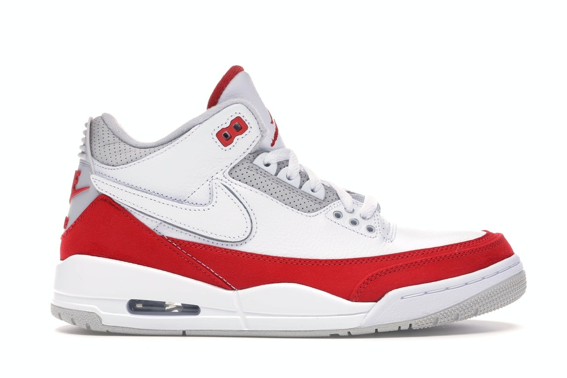 corte largo Perímetro himno Nacional  Jordan 3 Retro Tinker White University Red - CJ0939-100