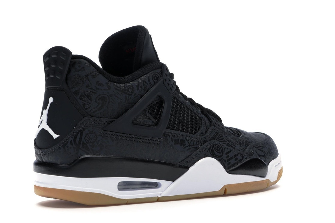 quality design 2b453 50a74 Jordan 4 Retro Laser Black Gum