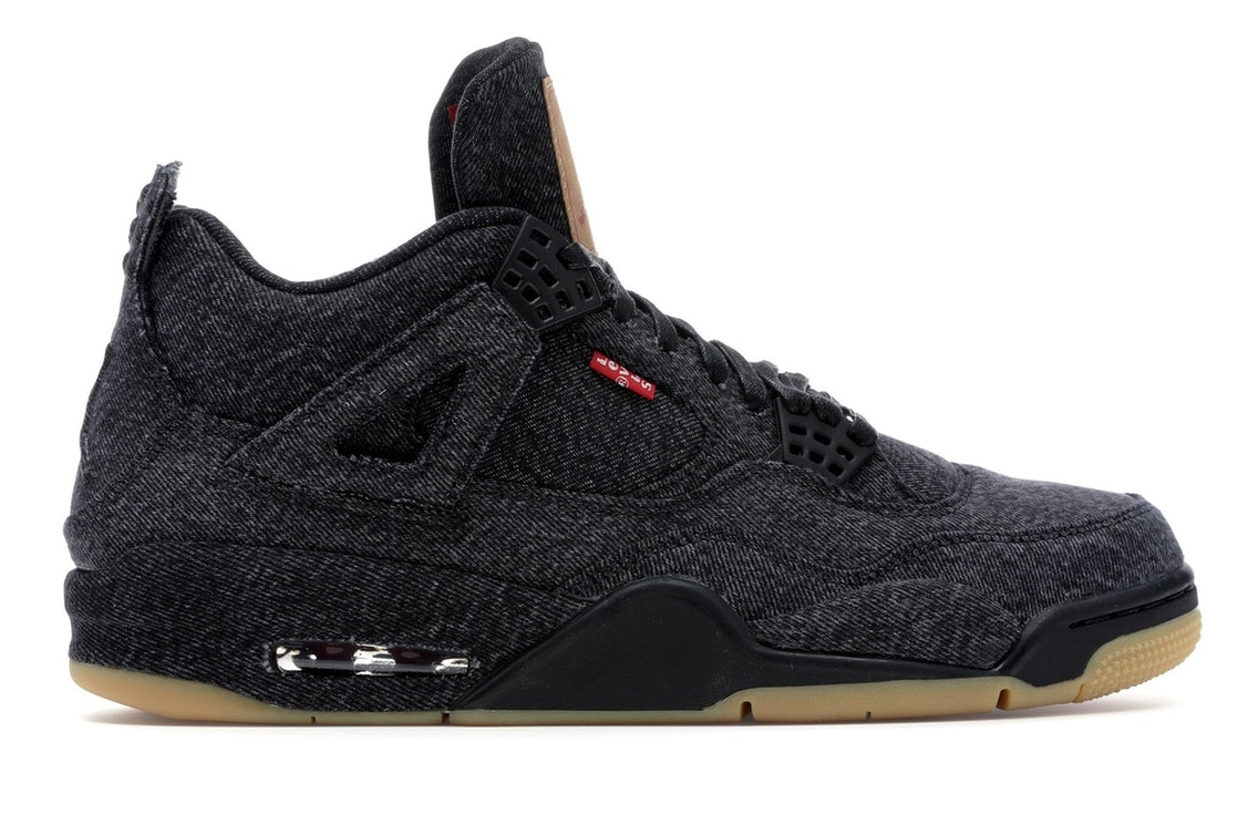 best sneakers f60b1 75615 Jordan 4 Retro Levi's Black (Levi's Tag)