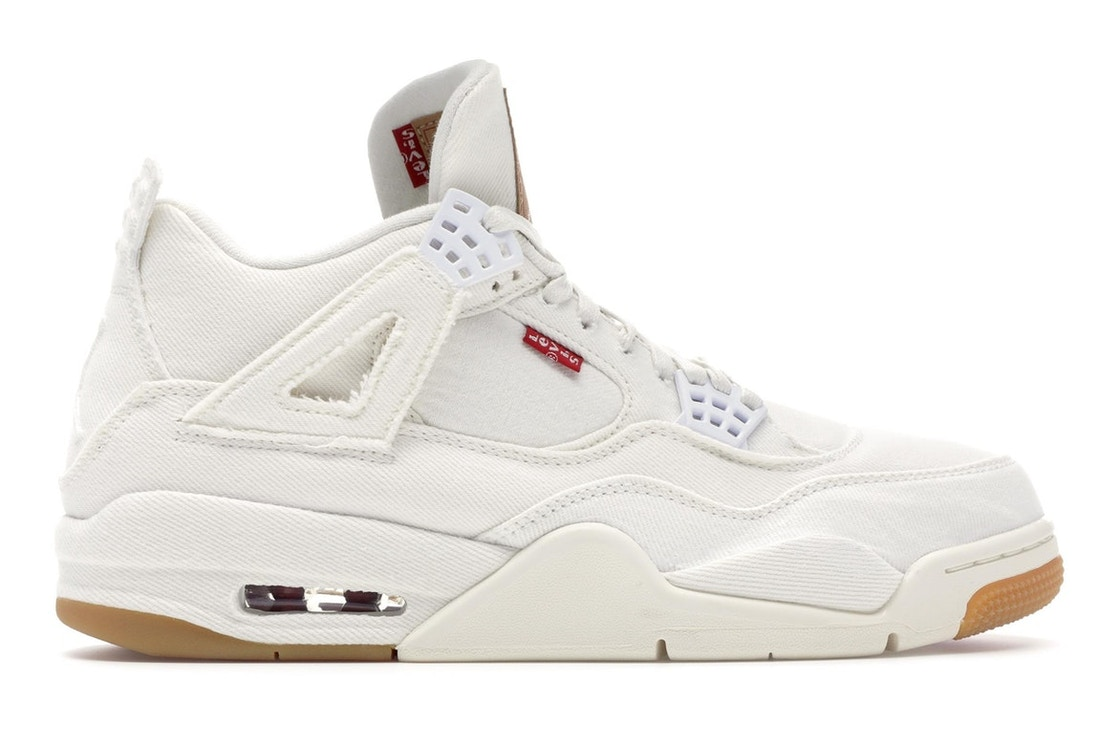 check out 0f420 c6f91 Jordan 4 Retro Levi's White (Levi's Tag)