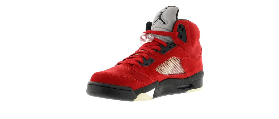 buy online 14e63 edc7d Jordan 5 Retro DMP Raging Bull Red Suede - 136027-601