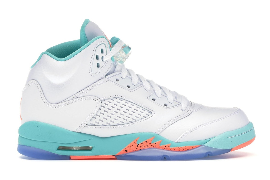 05cc32f74ec3 Jordan 5 Retro Light Aqua (GS) - 440892-100