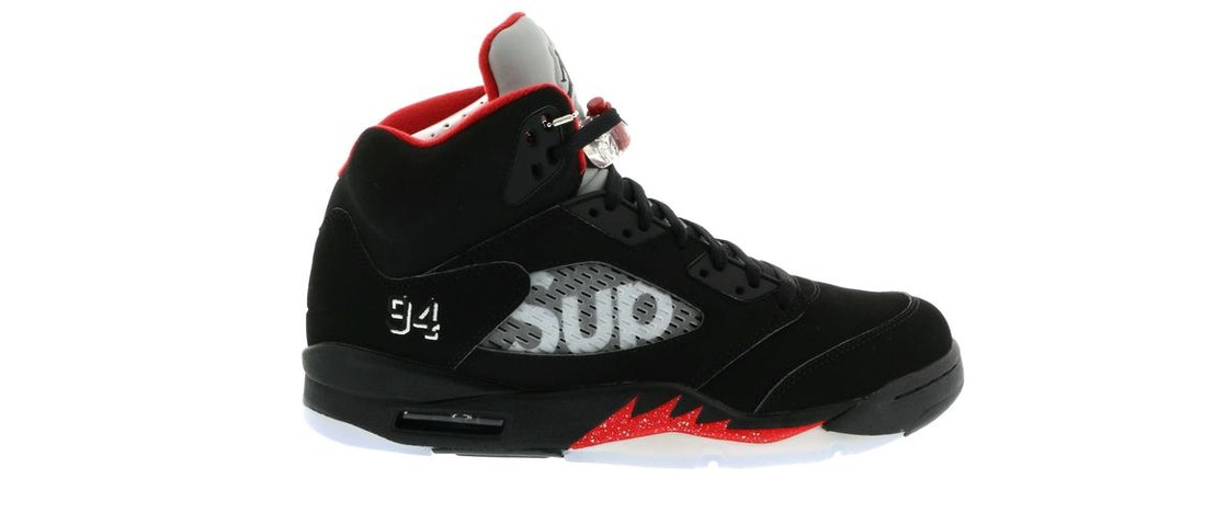 best authentic 3910a e1fe2 Jordan 5 Retro Supreme Black