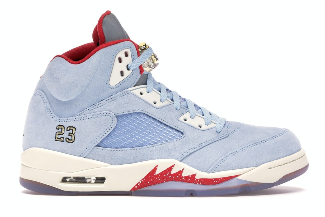 classic fit ccd84 4bfcc Jordan 5 Retro Trophy Room Ice Blue