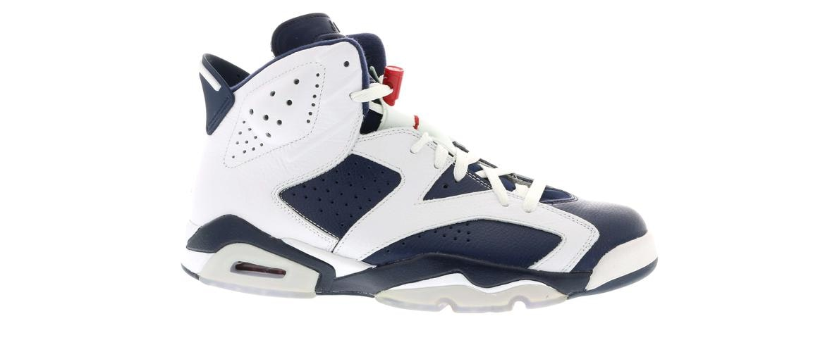 newest 767c9 6677f closeout air jordan 6 retro olympic 2012 release white midnight navy  varsity red 7764b cad36  canada jordan 6 retro olympic london 2012 384664  130 037f3 ...
