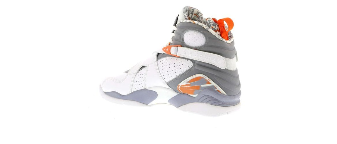 big sale b197a 3503b Jordan 8 Retro Orange White - 305381-102