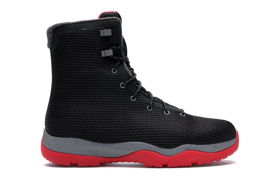 Jordan Future Boot Black Grey Red by Stock X