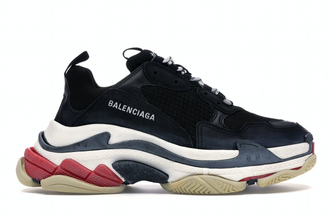 balenciaga sneakers black and red