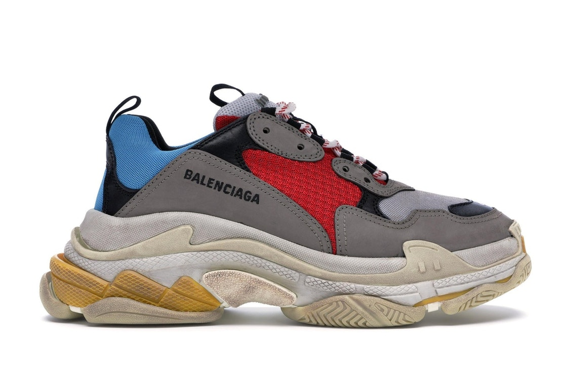 706078c8196a Balenciaga Triple S Grey Red Blue (2018 Reissue) - undefined