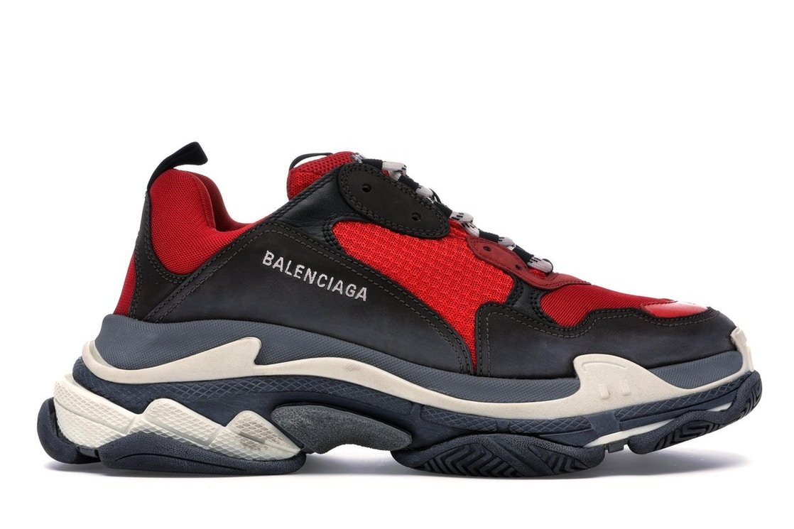 Balenciaga Triple S Red Black (Pre-Distressed)