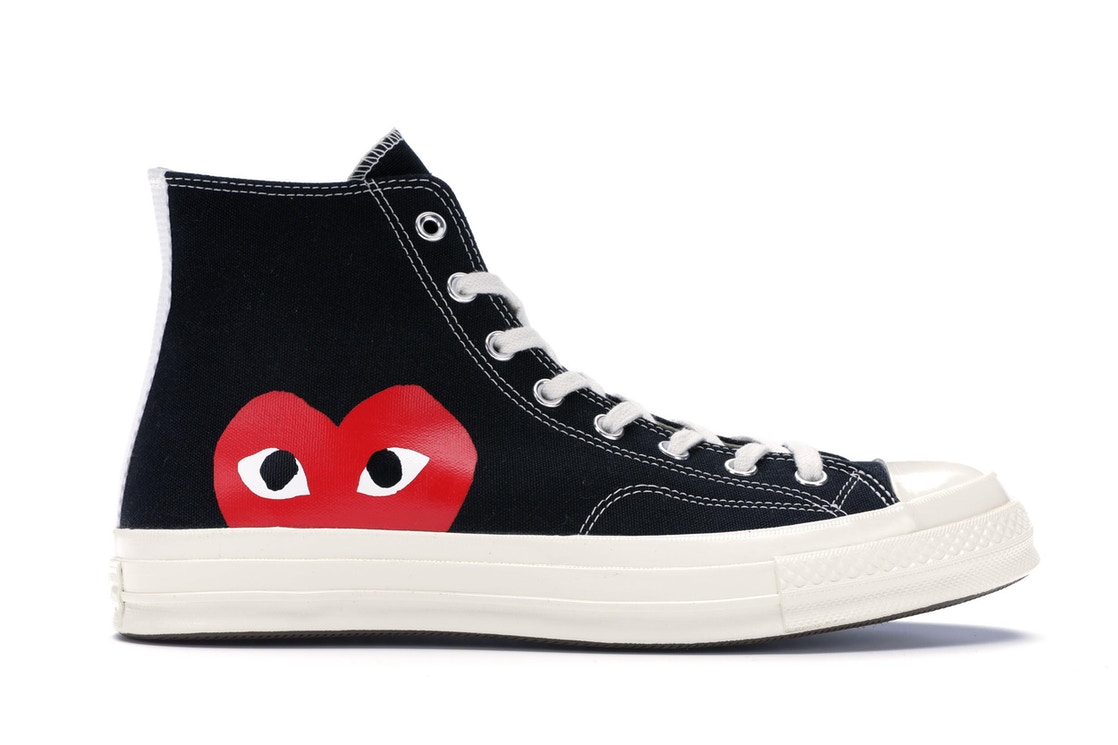 Converse Chuck Taylor All-Star 70s Hi Comme des Garcons PLAY Black ... 01d04d59a