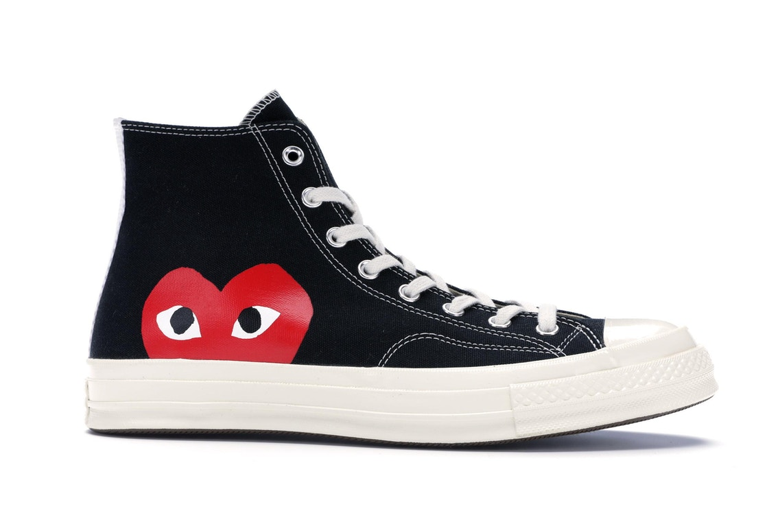 Converse Chuck Taylor All-Star 70s Hi Comme des Garcons PLAY Black ...