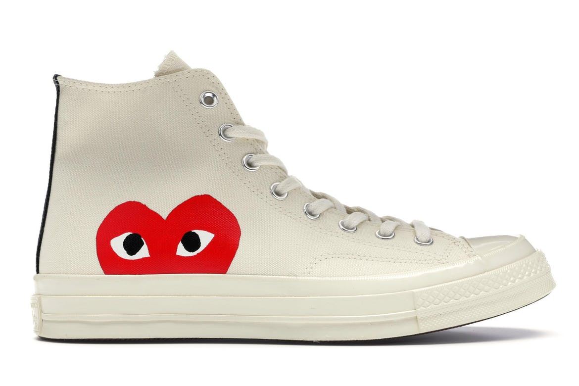Converse Chuck Taylor All-Star 70s Hi Comme des Garcons PLAY White สตรีท สนีกเกอร์ street sneaker