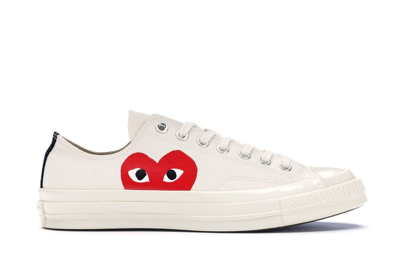 Converse Chuck Taylor All-Star 70s Ox Comme des Garcons PLAY White สตรีท สนีกเกอร์ street sneaker