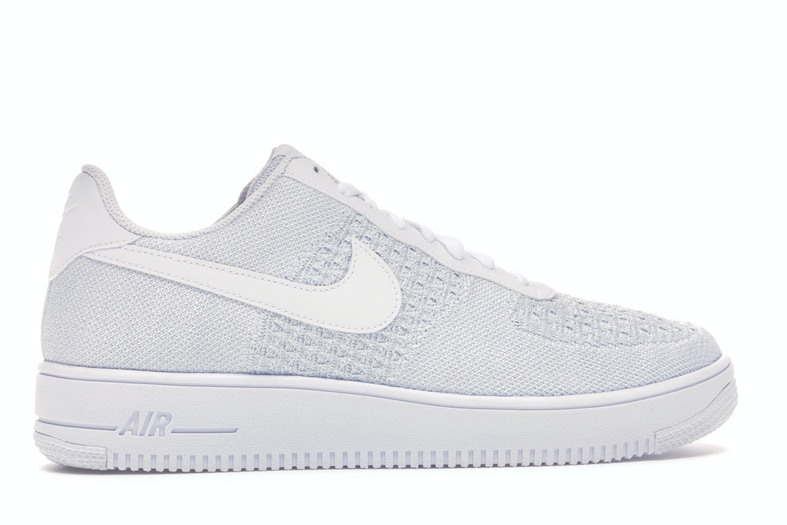 official photos 57001 2acf6 Air Force 1 Flyknit 2 White Pure Platinum