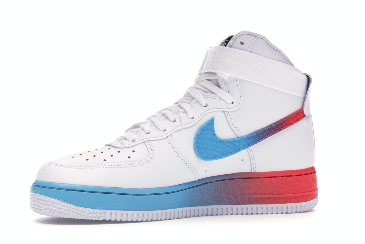 Air Force 1 High Gradient White Blue Fury Ember Glow